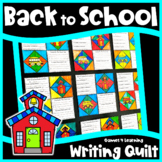 Back to School Writing Prompts Quilt - All About Me Activi