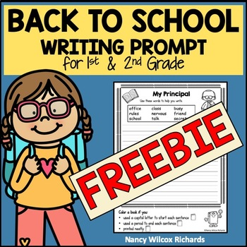 Back to School Writing Prompts for First and Second Grade FREEBIE