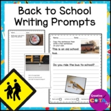 Back to School Writing Prompts with Pictures