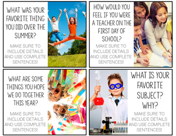 Back to School Writing Prompts {with real photos}