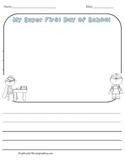 Back to School Writing Sheet