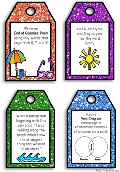 Back to School Writing Task Cards