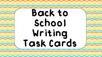 Back to School Writing Task Cards #StartFreshBTS