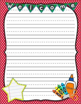Back to School Writing Templates