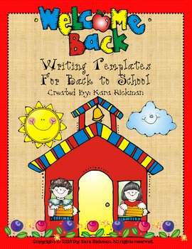 Back to School Writing Templates Grades 1-3