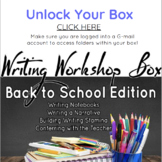 Back to School Writing Workshop Box