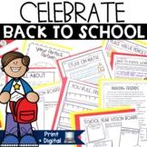 Back to School Activities | First Day of School Activities