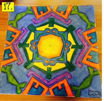 Back to School Writing and Art Project - Name Mandalas