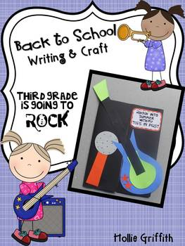 Back to School Writing and Craft {Third Grade is going to ROCK!}
