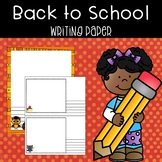 Back to School Writing and Drawing Paper Pack