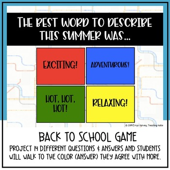 Back to School Writing & Icebreaker Game