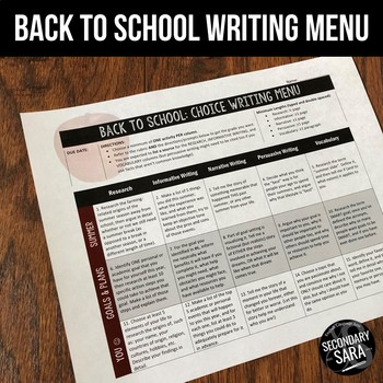 Back to School Writing for Teens: 1+ Month of Prompts {August & September}