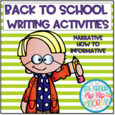 Back to School Writing for the Primary Student