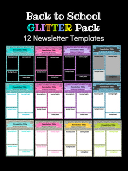 Back to School & Year-Round Newsletter: 12 Google Slide Templates
