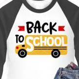 Back to School Yellow bus print
