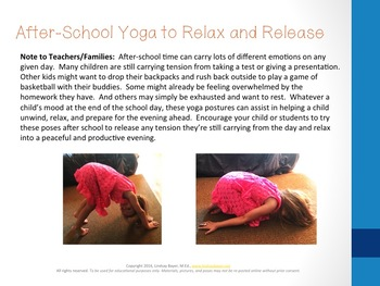 Back to School Yoga Plan for Families and Educators