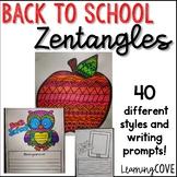 Back to School Zentagles Writing Activity!