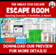 Back to School Zoo Escape Room Team Building Activity