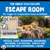 Team Building Zoo Escape Room Classroom Community Activity