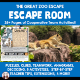 Team Building Zoo Escape Room Classroom Community Activity