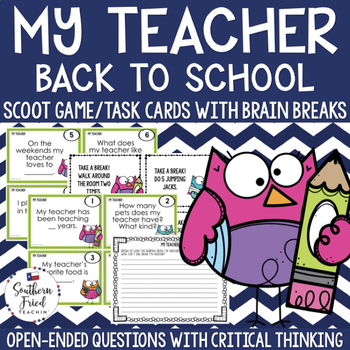 Fun Back to School Scoot - Making Predictions about Your Teacher