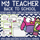 Fun Back to School Scoot Game/Task Cards - Make Predictions about Your Teacher