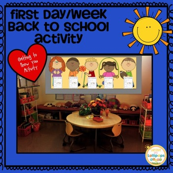 Back to School Activity for First Grade