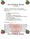 Back to School an Apeeling Bunch Writing Activity