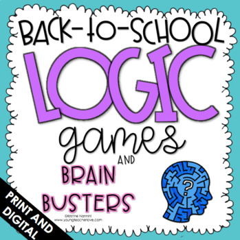 Back to School Activities - Logic Games - First Week of School Activities