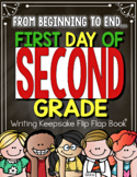 Back to School First Day of Second Grade Flip Flap Book® | Distance Learning