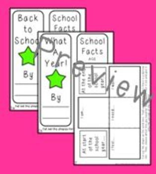 Back to School and End of the Year Foldables