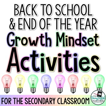 Back to School and End of the Year Growth Mindset Activities BUNDLE