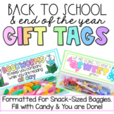 Gift Tag for End of the Year, Reading Marathon, Meet the Teacher, Open House