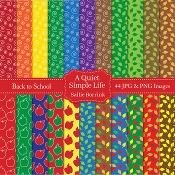 Back to School and Fall Digital Papers