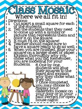 Back to School and Getting to Know You Activities