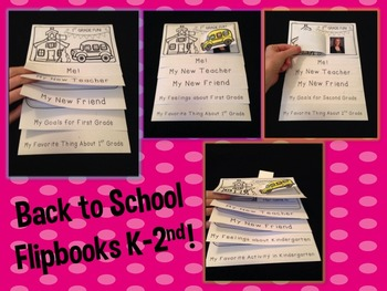 Back to School and Goal Setting Flip Books!
