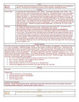 Back to School and Jack's Talent 6 day Lesson Plans Journeys 1st grade
