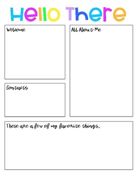 Back to School and Meet The Teacher Templates