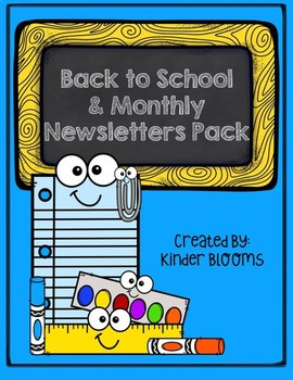 Back to School and Monthly Newsletters Pack {Editable}