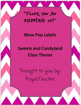 Back to School and Open House Blow Pop Labels, Sweets Theme