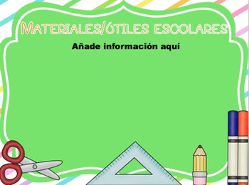 Colorful Back to School and Open House PPT Template in Spanish ( EDITABLE )