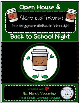 Back to School and Open House Starbucks Themed