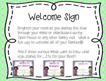Back to School/Open House/Meet the Teacher...All You Need