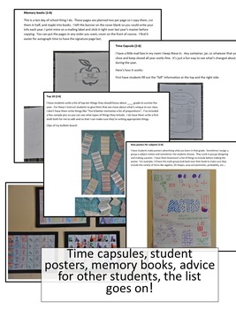 Back to School and The End of the Year Activity and Idea Pack