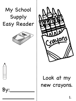 Back to School backpack craftivity and activities to boost vocab and easy reader