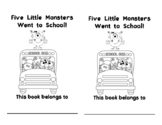 """5 Little Monsters went to School"" Back to School class ru"