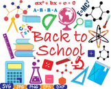 Back to School clipart math science Welcome teacher first day paint book - 358s