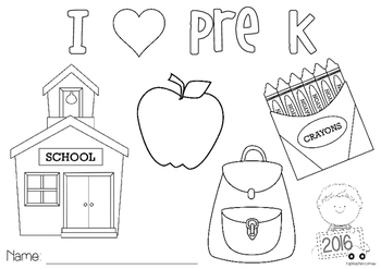 Back to School - colouring in pages