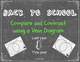 Back to School compare and contrast using a Venn diagram