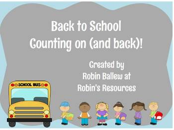 Back to School counting on and back 1.NBT.1